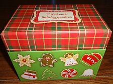 Hallmark Christmas Recipe Box With Sealed Christmas Recipe Cards & Dividers – Br