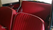 FODERE SEDILI AUTO SU MISURA FIAT 1100 R ( dal 1966)  - SIMILPELLE ROSSA