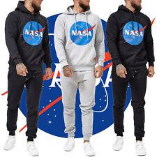 Herren Jogginganzug NASA Logo Print Trainingsanzug Sportanzug Streetwear 4000