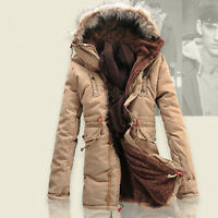 Hots Men's Winter Slim wool Warm Jacket Cotton coat fleece Trench Parka outwear