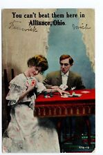 """Vintage Alliance, OH Postcard - """"You can't beat them here in Alliance"""" - Posted"""