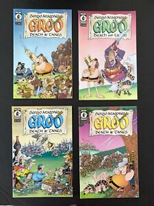 SERGIO ARAGONES GROO DEATH AND TAXES #1,2,3,4 COMPLETE DARK HORSE 2001-2002 NM+