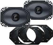 Brs46 Jeep Wrangler 1997>2000 (4) 50 Watt Front Speaker Kit Boss