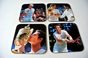 Andy Murray Wimbledon 2013 Champion COASTER Set