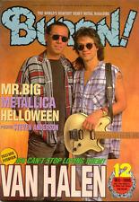 Burrn Dec/96 Van Halen Mr. Big Helloween Metallica