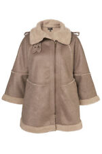 New lovely TOPSHOP faux sheepskin cape UK 10 in Taupe