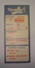 """10 TARGHETTE ADESIVE  ETICHETTA TAGLIANDO """" OLIO FIAT """""""