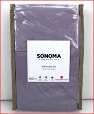 Sonoma Pillowcase Set - 400 tc 100% Sateen Cotton Standard-QUEEN  Purple 🌟NEW🌟