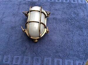 Outdoor Antique Brass Bulkhead Light