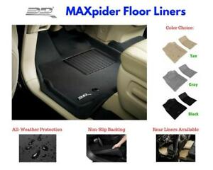3D Maxpider Kagu Floor Mats Liners All Weather For Nissan Titan Crew Cab 2016-19