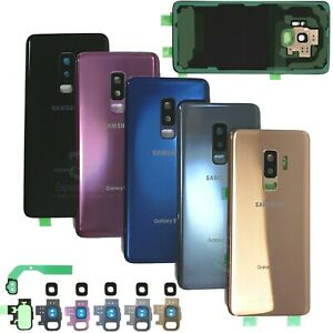 For Samsung Galaxy S9/S9 Plus Replacement Back Glass+Camera Lens Cover+IP68 Tape