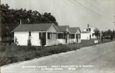 Clinton CT Maynard Cabins Pratt Road Real Photo Postcard