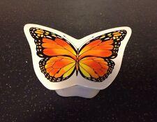 Vintage Retired Telefonica Monarch Butterfly Porcelain Trinket Jewelry Box