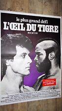 stallone ROCKY 3 l'oeil du tigre !  boxe affiche cinema  1er tirage 1983