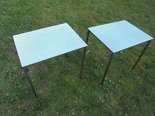Mobilier VINTAGE 50 Paire de Tables d'appoint Inox/ Bout de Canapé Design LOFT