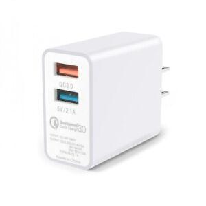 QC 3.0 USB AC Fast Charger 2 Port Universal Wall Quick Charging Travel Plug