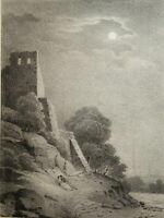 Jean-Baptiste ARNOUT (1788-1865) RARE LITHO CLAIR OBSCUR DIJON BOURGOGNE 1820 a