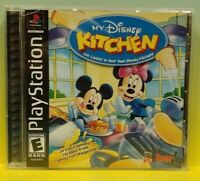 My Disney Kitchen Mickey - Playstation 1 2 PS1 PS2 Game Working 1 Owner Complete