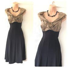 Gorgeous Joseph Ribkoff Black/brown Stretchy Floaty Dress Size 12