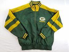 Pro Player NFL Green Bay Packers 1/2 Zip Mens Jacket Nylon sz M Reversible