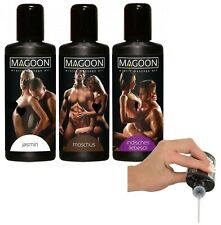 olio gel corpo per massaggi erotici sessuali set 3 pz lubrificante 3 x 50 ml