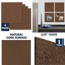 """Quartet Cork Board Tiles, 12"""" x 12"""", Corkboard, Mini Wall Bulletin x"""