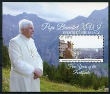 St Kitts 2015 MNH Pope Benedict XVI Events Papacy 1v S/S Popes Stamps