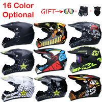 Motorcycle Helmet Extreme Sports Off Road ATV Dirt Bike Helmets+3pcs Free Gift
