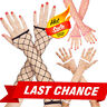Large Diamond Net Fishnet Fingerless Gloves Arm Warmers Elbow Length Costume OS