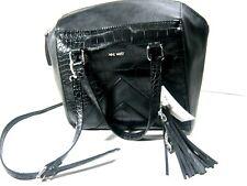 NWT $89 Nine West Women's Slouchy Attack Satchel Bag Purse Shoulder Bag Black