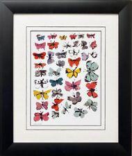 """Andy Warhol """"Butterflies"""" 1955 CUSTOM FRAMED Pop Art Lithograph NEW"""