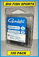 GAMAKATSU 614 Jig Hook 60° FE Light Wire Round Bend 100-Pack #61413-100 Size 3/0