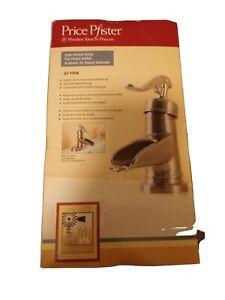 NOB Price Pfister Ashfield 42-YP0K Satin Nickel Waterfall Design Lavatory Faucet