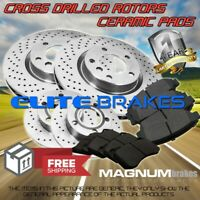 F+R Drilled Rotors & Pads for 1999 Ford F-350 Super Duty RWD 4 Wheel ABS DRW
