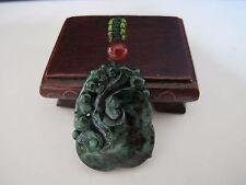 100% Natural type A jadeite jade ruyi pendant C00084
