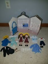 Madeline 1999 Vintage Carrying Case With Dolls And Clothes