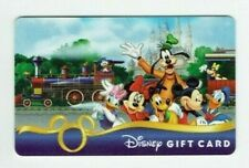 Disney Gift Card - Railroad Train / Mickey Minnie Pluto Goofy Donald - No Value