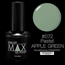 MAX 15ml Soak Off Gel Polish Nail Art UV LED Color #072 - Pastel Apple Green