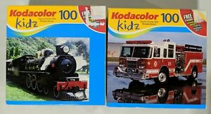 Lot of 2 Sealed Kodacolor 100 Piece Puzzles: Train & Fire Truck