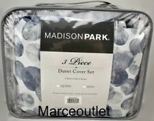 Madison Park Nells Queen Duvet Cover & Shams Set Blue