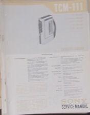 Grabadora De Cassette Sony TCM-111 Manual de taller de reparación de servicio (copia Original)