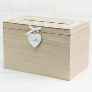 Widdop Best wishes for the Mr & Mrs Love Story Wedding Wood Card Box 942/9242