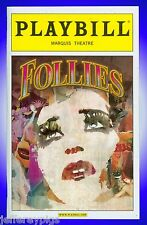 Playbill + Follies + Bernadette Peters, Elaine Paige, Lora Lee Gayer, Jan Maxwel