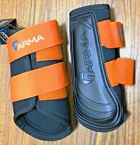 New Shires Arma Brushing Boots Cob Splint Boot Sport Blk. Neoprene Horse Tack