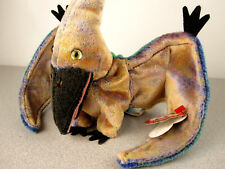"""Vintage 2000 Ty Beanie Baby """"Swoop"""" the Pterodactyl w/ tag. RaRe Dinosaur babies"""