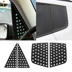 Front Rear Window Glass Triangle Plate Cover Trim for Jeep Renegade 2016-2019