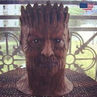 Groot tree guardians of galaxy Costume Latex Rubber Horror Scary Mask Halloween