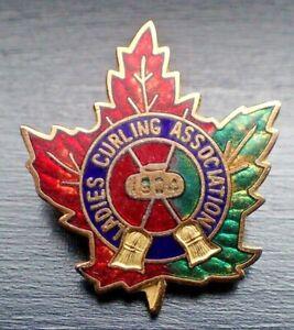 Vintage Ladies Curling Association 1904 Maple Leaf Pin