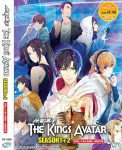 DVD ANIME THE KING'S AVATAR SEA 1-2 VOL.1-24 END + MOVIE ENGLISH SUBS+ Free Ship