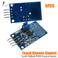 5x Capacitive Touch LED Dimmer PCB Board PWM Control Switch Module 2.4-5V 500mA